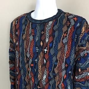 Coogi Men's Vintage Multi-Color Sweater (Large)